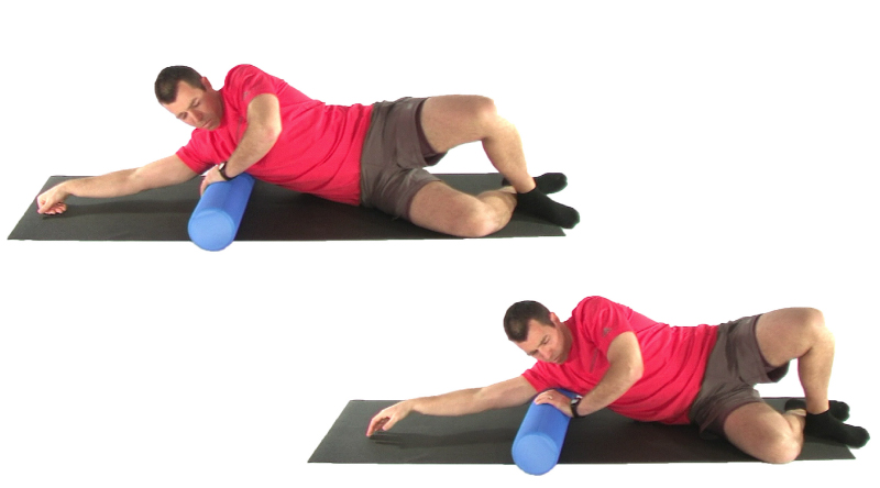 lat / triceps roller for improving mobility