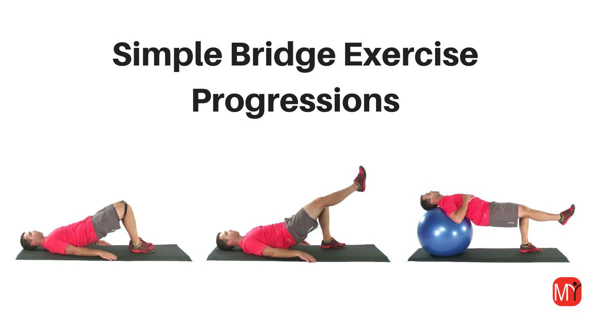 bridge exercise progressions