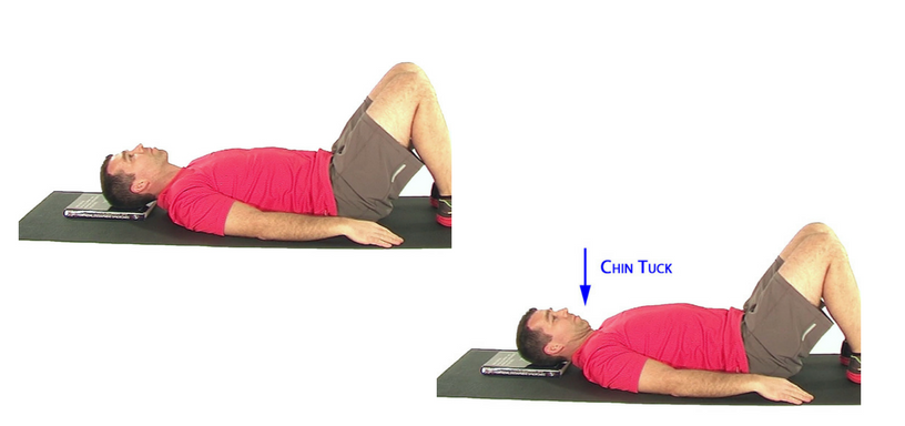 Neck Stability Exercises_Basic Supine Neck Retraction