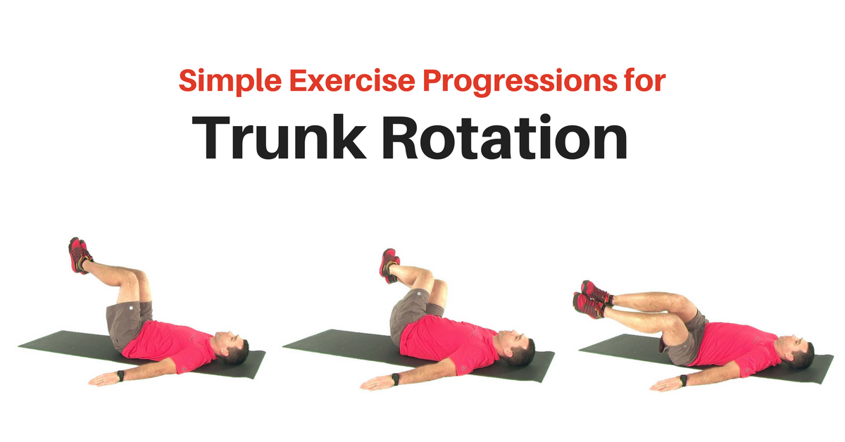 Simple Trunk Rotation Exercise Progression